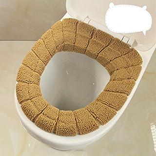 Kicode (Braun) Stricken Toilettensitzabdeckung Badezimmer Weiche Dickere Warmer