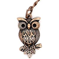 Copper Keyring With 30mm Owl