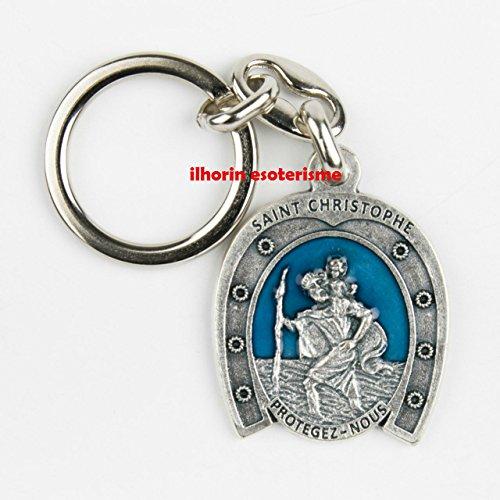 Porte clés (clefs) fer à cheval saint Christophe ( livraison gratuite)