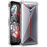 Amazon Brand - Solimo Mobile Cover (Soft & Flexible Shockproof Back Case with Cushioned Edges) Transparent for Nubia Red Magi
