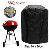 dDanke Wasserdicht Grill Bezug 70x 96cm Polyester Rund BBQ Grill Cover für Outdoor Garten Terrasse Grill Schutz