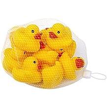 Schramm 10er Pack Gummiente Gelb 5cm im Netz Badeente Bade Ente Enten Badeenten Gummienten