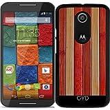 Hülle für Motorola Moto X (Génération 2) - Holz by Warp9