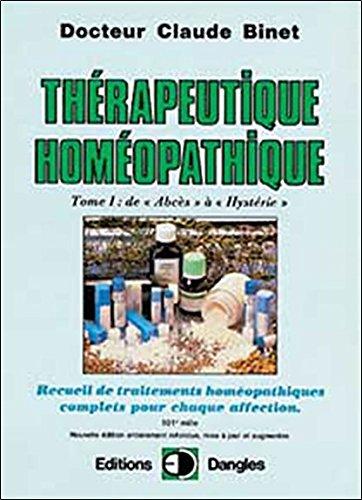 Thrapeutique homopathique T.1