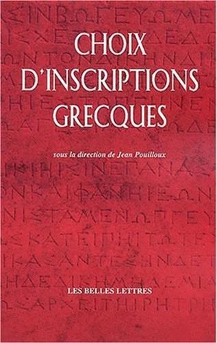 Choix d'inscriptions grecques par
