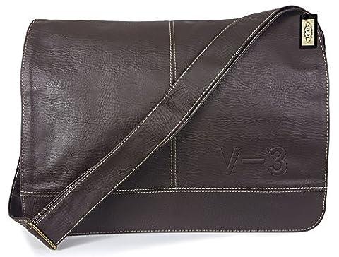 GFM Men's Faux Leather Messenger Bag Cross Body Mens Office Bag (SA)(#606-#KEK)