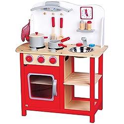 New Classic Toys 1055 - Cocina de juguete con accesorios