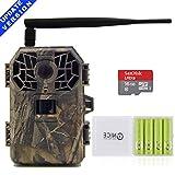 HUNTOOLER Wildkamera 3g Drahtlose Jagdkamera 16MP 1080P HD mit Nachtsicht Bewegungsmelder für Wild Jagd, C10 SD Karte und 4AA Outdoor batterien sind dabe.