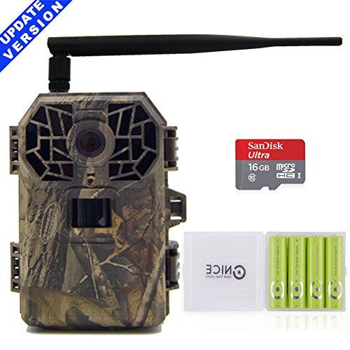 Wildkamera 3g Drahtlose Jagdkamera 16MP 1080P HD mit Nachtsicht Bewegungsmelder für Wild Jagd, C10 SD Karte und 4AA Outdoor batterien sind dabe.