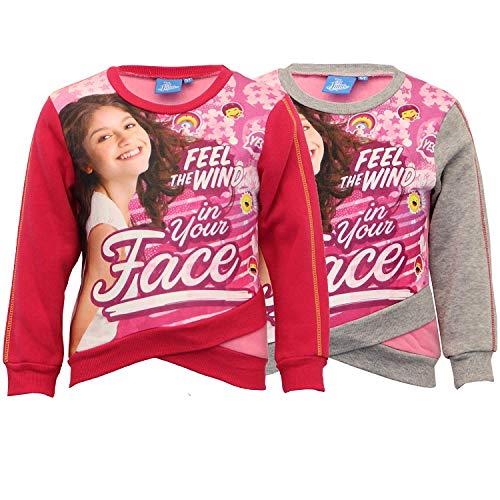Disney Mädchen Sweatshirt Soy Luna Bedruckt Kinder Pullover Fleece - Grau - D37187, 5 Years Disney Fleece-sweatshirt
