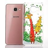 21ae0fb16c3 Funda Samsung Galaxy A5 2016, SpiritSun Silicona Case Carcasa con Líquido y  Transparente, Dura
