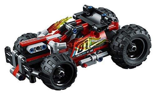 LEGO Technic - ¡DERRIBA!, Juguete de Construcción de Coche Rojo (42073)