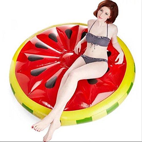 Hochwertige Pool Float Schwimmendes Bett Aufblasbare Wassermelone-sich hin- und herbewegende Wasser-Reihe, Swimmingpool-Aufblasbares Spielzeug-Erwachsener u. Kind-sich hin- und herbewegender Bett-Wasser-Erholungs-Stuhl 150 * 150 * 20cm KKY-ENTER