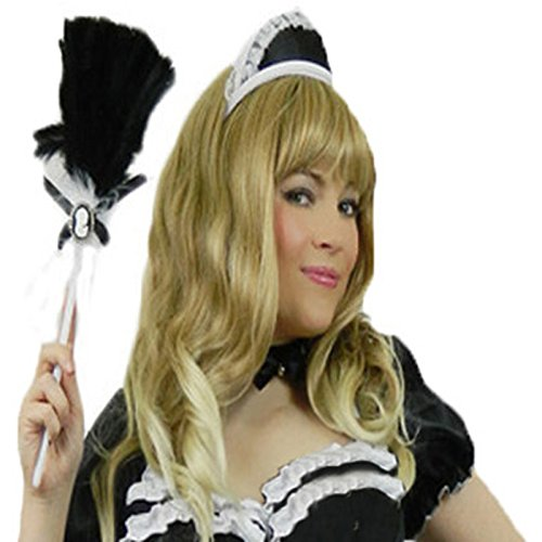 chen French Maid Hut Kellnerin Kappe Karneval Fasching Kostüm Damen ()