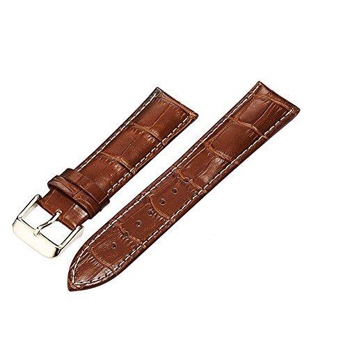 Leder Uhrenarmband Uhrband Armband Uhrenarmbänder Watchband Ersatzarmband für Uhren Braun 22mm