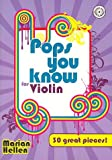 Pops you know for Violin (+CD) mit Bleistift -- 30 beliebte Hits aus Pop und Rock bis zu Filmmelodien u.a. mit DANCING QUEEN (Abba) und STAR WARS, leicht bis mittelschwer arrangiert für Violine und Klavier (Noten/sheet music)