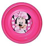 Suppenteller / Suppenschüssel / Müslischale - Kinderteller - ' Disney - Minnie Mouse ' - aus Kunststoff / Plastikteller Plastik - Geschirr für Kinder - Mädchen Playhouse - Speiseteller - Mäuse - Maus Mickey