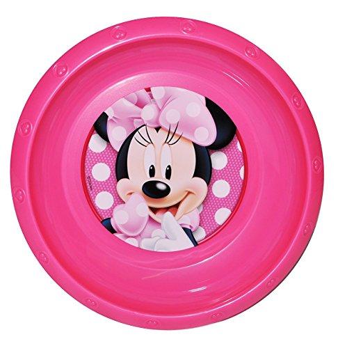 """Suppenteller / Suppenschüssel / Müslischale - Kinderteller - """" Disney - Minnie Mouse """" - aus Kunststoff / Plastikteller Plastik - Geschirr für Kinder - Mädchen Playhouse - Speiseteller - Mäuse - Maus Mickey"""