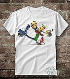 T-shirt uomo-donna Minions oben Italienische Vespa