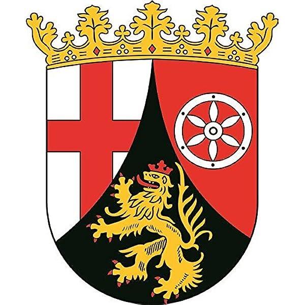 U24 Aufkleber Rheinland Pfalz Wappen Autoaufkleber Sticker Konturschnitt Auto
