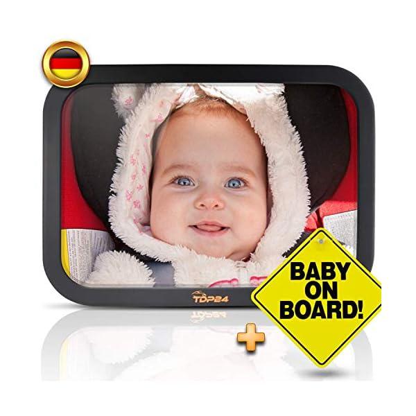Spiegel Baby Auto.Tdp24 Autospiegel Baby I Ruckspiegel Baby Auto Bruchsicherer Rucksitzspiegel Fur Babys I Spiegel Auto Baby I Baby On Board Schild E Book I Grosse