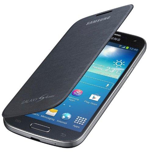 Samsung Original EF-FI919BBEG Flip Handyhülle für Galaxy S4 Mini (S4 Flip Cover Handy)