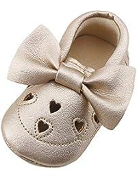 046d15b11e0fd Bluestercool Princesse Chaussures Nouveau-né Bébé Fille Chaussures Premiers  Pas Mode Bowknot Antidérapant Baskets Confortable