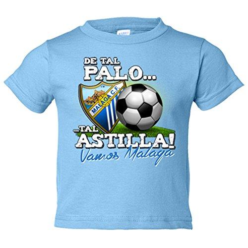 Camiseta niño de tal palo tal astilla Vamos Málaga fútbol - Celeste, 9-11 años