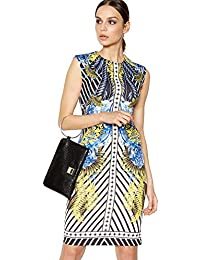 e31bd2b994 Debenhams Star by Julien Macdonald Womens Blue Scarf Print Scuba Knee Length  Bodycon Dress