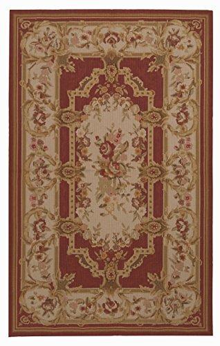 IT-2062-Aubusson Mezzopunto Classico Floreale Francia Intend - 152x91 Cm - (GalleriaFarah 1970) #