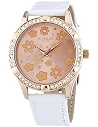 Mike Ellis New York Damen-Armbanduhr Paris Analog Quarz Leder SL4-40045A