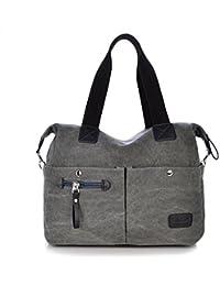 Outreo Vintage Bolsos Bandolera Mujer Bolso de Lona Marca Casual Messenger Bag Colegio universidad Grandes Bolsos Originales de Mano