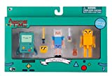 Adventure Time 14609 – Minifigure 7 cm – Pack Collector Pixel di 3 – BMO/Finn/Jake con Accessori