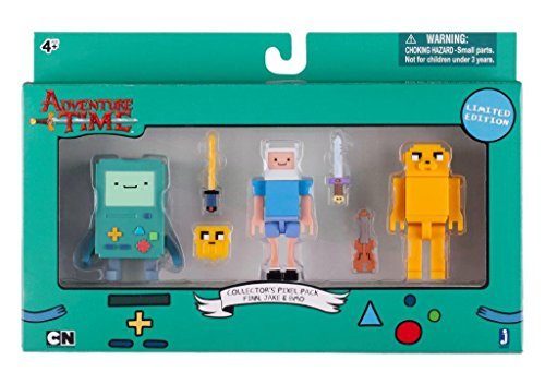 Adventure-Time-Pixel-Spielfiguren-Sammler-Pack-Finn-Jake-BMO-UK-Import