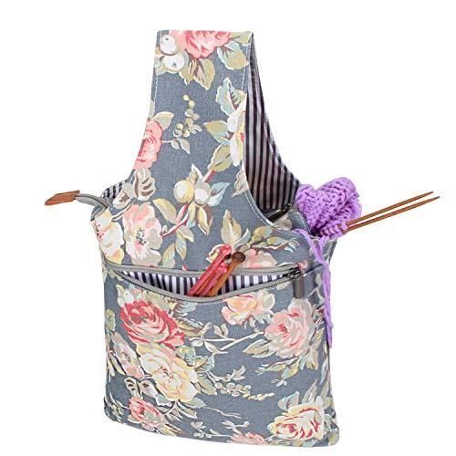 fatta a mano uncinetto 16 x 7 cm per lavori a maglia kit di accessori per lavoro a maglia con coperchio rimovibile Ciotola in legno per filati