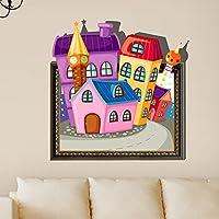 Bluelover 3D bambini camera Cartoon bella carina casa parete decalcomanie muro rimovibile carta adesivi arte regalo fai da TE decorazione