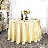 Paño de mesa transparente Mantel redondo, Mesa de centro del restaurante del hotel Mesa de comedor Mesa redonda Mantel Reunión Salón de exposición Mantel Oro / blanco ( Color : Oro , Tamaño : Round-260cm )