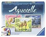 Ravensburger 29468 - Glückliche Pferde - Aquarelle Maxi, 30 x 24 cm