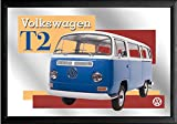Close Up Spiegel VW Bulli T2 VW Lizenz Wandspiegel