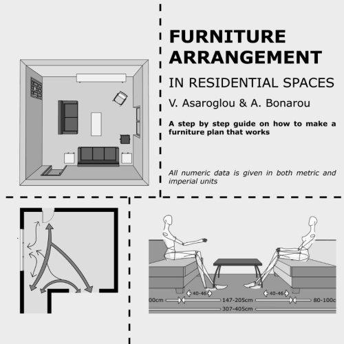 Furniture arrangement: in Residential spaces por Vasiliki Asaroglou