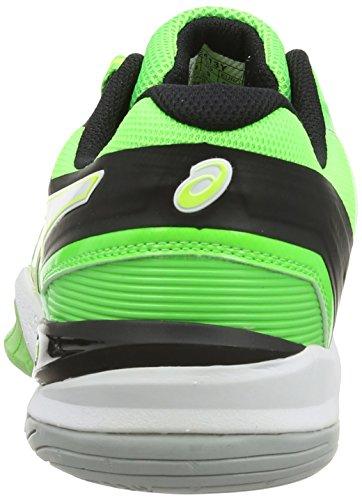 ASICS Gel-Blast 6, Chaussures Multisport Outdoor Hommes Vert (Dark Green/Flash Orange/Black 8030)