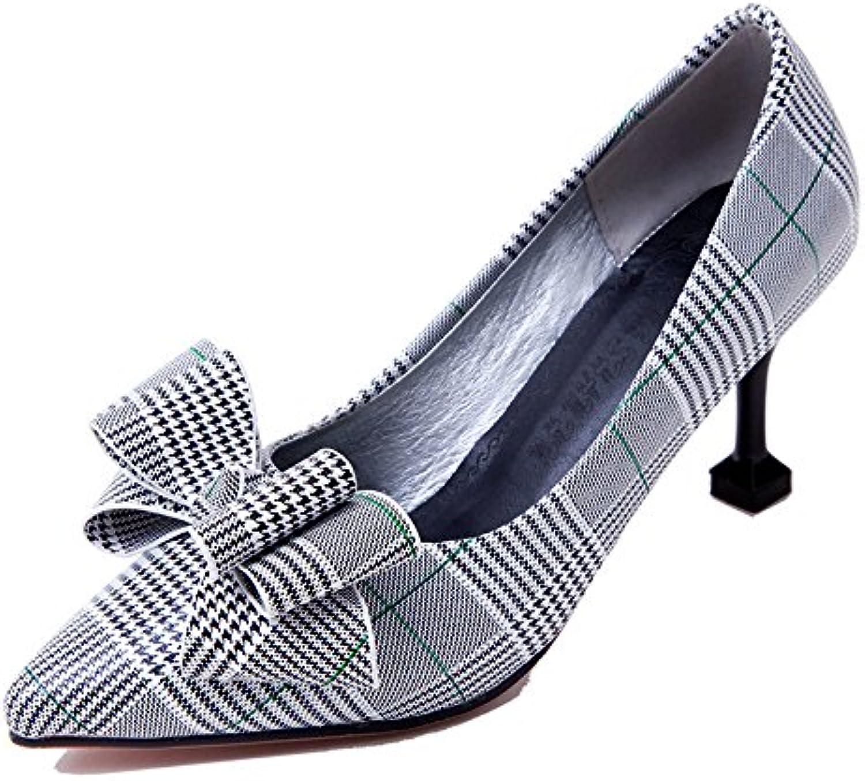 A la luz del alto talón zapatos de mujer primavera pajarita código del tamaño de un zapato ,verde,34