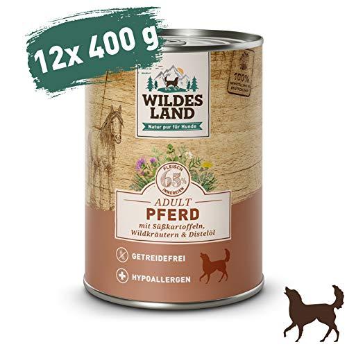 Wildes Land | Nassfutter für Hunde | Nr. 3 Pferd | 12 - Nature Real Nassfutter Hundefutter