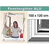 Insektenschutzrahmen Insektenschutz Fenster 100 x 120 cm Weiss