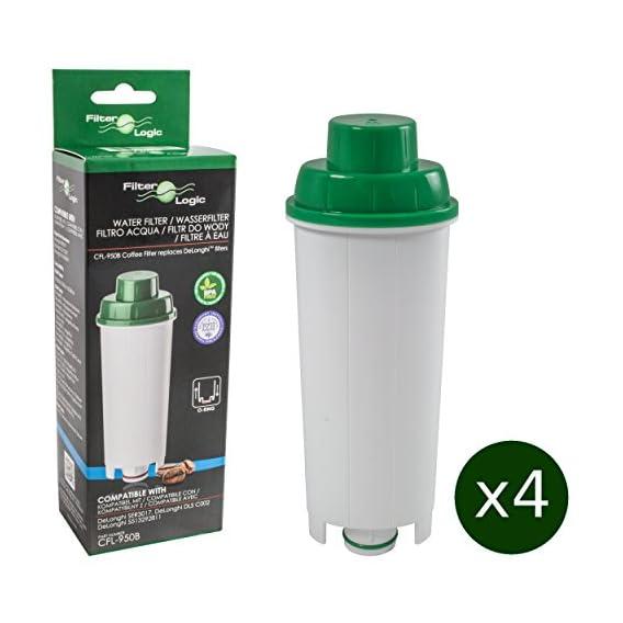 Cappuccino Juego de 5 filtros de agua compatibles con cafeteras DeLonghi DLS C002 Magnifica ETAM DLSC002 ESAM BCO Caffe SER 3017 EC ECAM