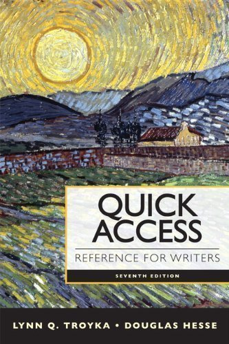 Quick Access Reference for Writers with NEW MyCompLab with eText -- Access Card Package (7th Edition) 7th (seventh) Edition by Troyka, Lynn Q., Hesse, Doug published by Longman (2012)