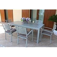 Tavoli Da Giardino In Alluminio Amazon.Amazon It Tavolo Con Sedie In Alluminio