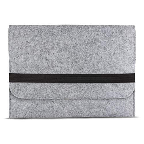 eFabrik Schutztasche für Acer Swift 1 SF113-31 Tasche aus Filz 13,3 Zoll Filztasche Case Sleeve Soft Cover Schutzhülle Sleeve, Farbe:Grau -