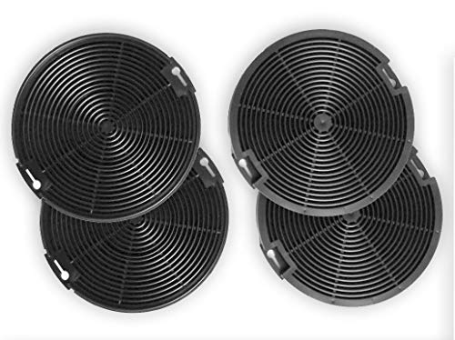 4x Aktivkohlefilter Ersatz-Filter für Dunstabzugshauben passend für AEG-Elektrolux EFF75 - EFC60151 EFC90151 EFG50022 EFG7390 EFG750 EFP50637 EFP6500 EFP6500 EFP9500 4055093712 942492436