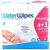 Waterwipes - WATERWIPES Lingettes Bébé 100% naturelles - Lot de 5x60 lingettes Promo : 4 + 1 GRATUIT